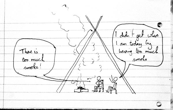 How To Avoid Too Much Smoke In Your Tipi Living In A